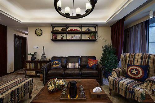 米色温馨美式风格客厅装修赏析2016