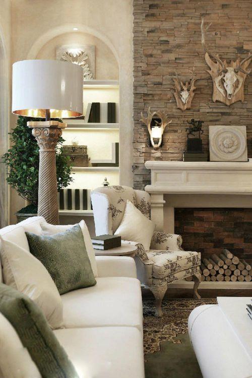 自然风貌美式客厅局部装修效果图