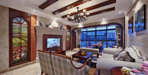 精美时尚美式客厅效果图设计