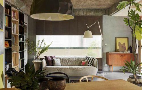 质朴清新自然混搭客厅设计装潢