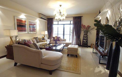 休闲混搭风格客厅装修设计欣赏