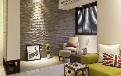 米色混搭客厅局部装修设计
