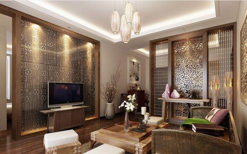 混搭风格客厅装修设计图片