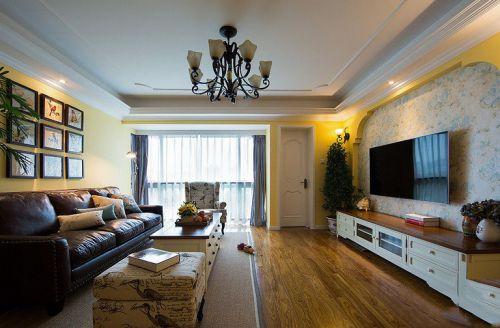 休闲美式风格客厅装修设计图片