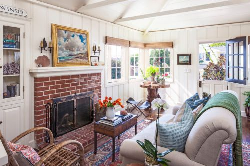 混搭风格白色清新客厅图片欣赏
