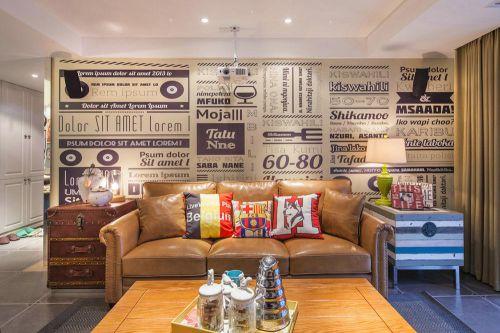 美式创意客厅装修设计图片