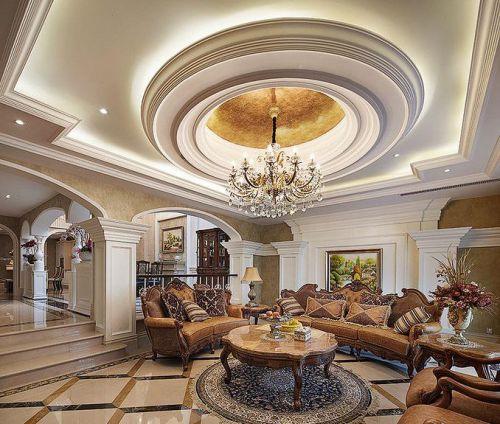 美式风格大气米色客厅装修欣赏