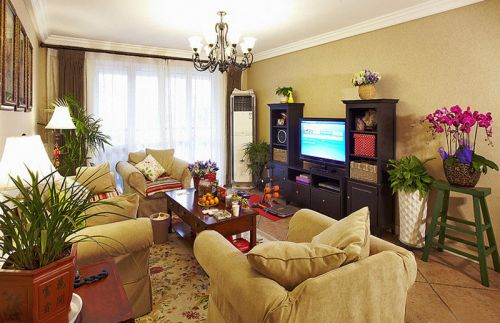 大气2016美式风格客厅装潢