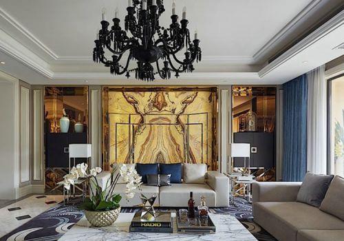 抽象主义混搭客厅背景墙设计