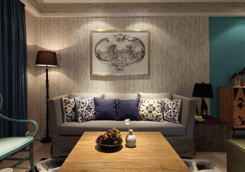 混搭风客厅沙发背景墙欣赏