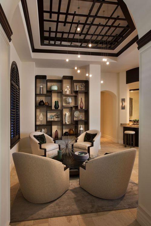 米色典雅混搭风格客厅装饰赏析