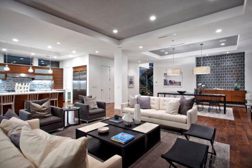 混搭风格灰色客厅装饰案例