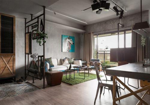 工业混搭风格客厅装修设计