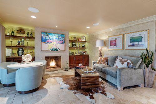 混搭风格米色客厅图片欣赏