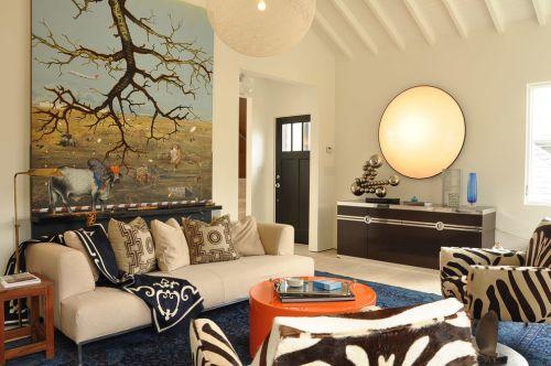 混搭风格个性米色客厅效果图赏析