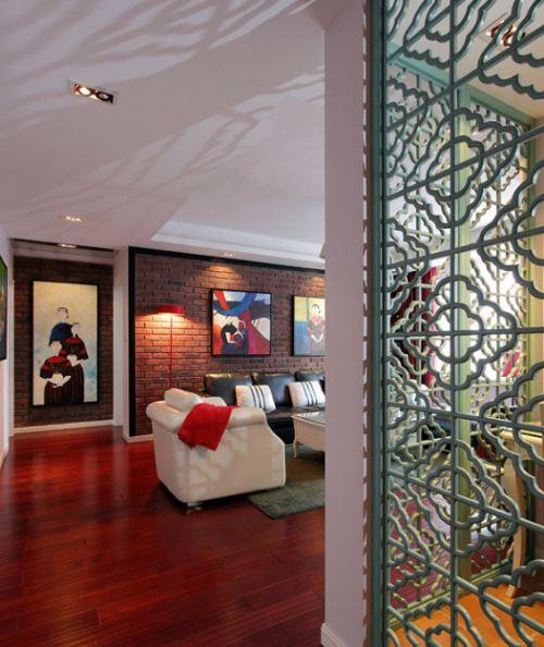 2016红色个性混搭风格客厅装潢