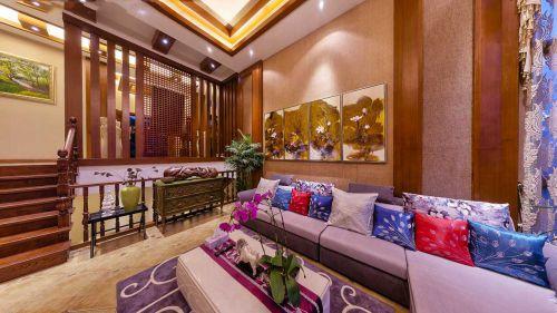 彩色个性混搭风格客厅装修案例