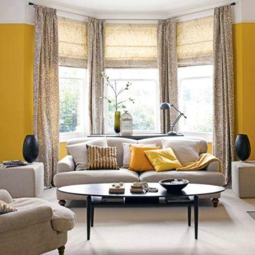 混搭风格客厅窗帘装潢案例