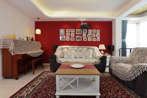 时尚混搭风格客厅照片墙图片欣赏