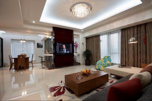 雅致混搭风格客厅装潢设计