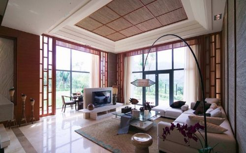 雅致混搭风格客厅装饰案例