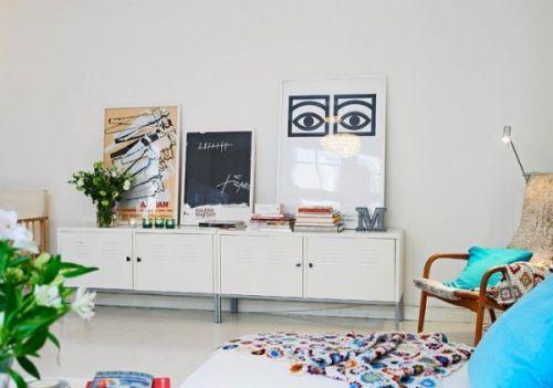白色小清新混搭风格客厅装饰案例