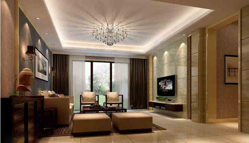 白色混搭时尚客厅设计效果图片鉴赏