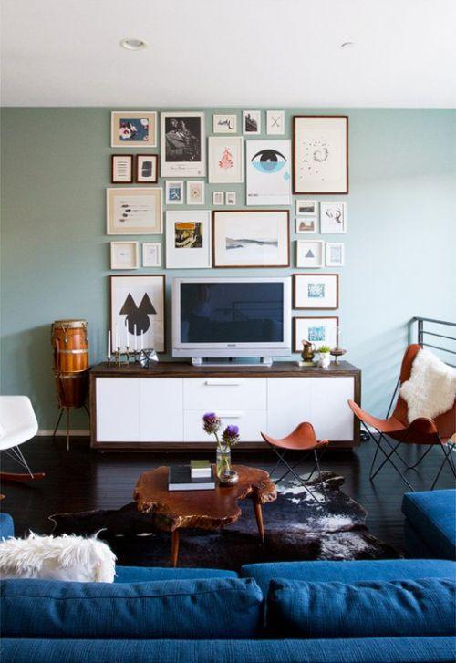 个性混搭风格客厅电视背景墙装潢赏析