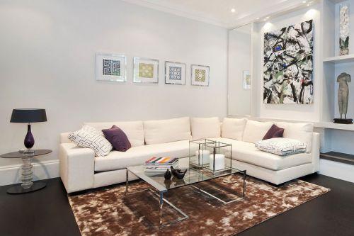 时尚混搭白色客厅效果图赏析