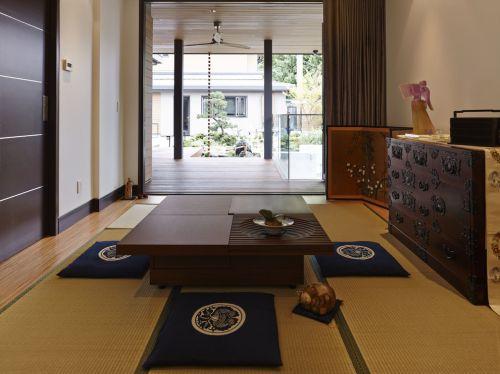 日式风格黄色客厅榻榻米设计赏析
