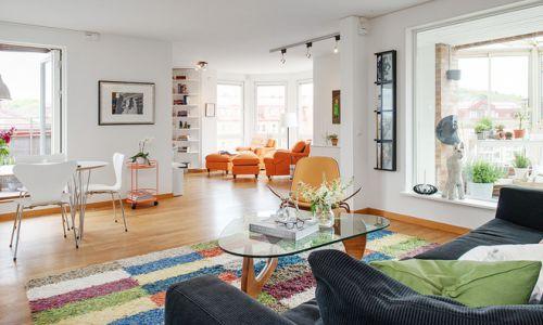美式混搭风格客厅设计装修效果图