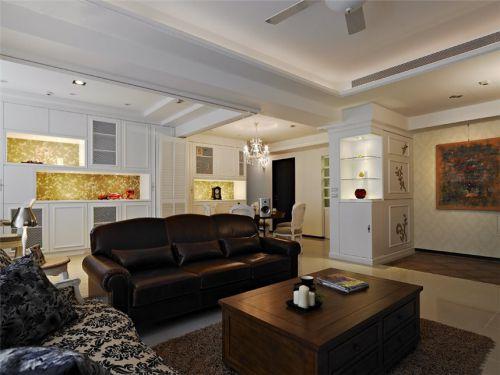 白色混搭风格客厅装修美图赏析