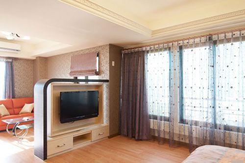 浪漫混搭风格米色客厅设计装饰图