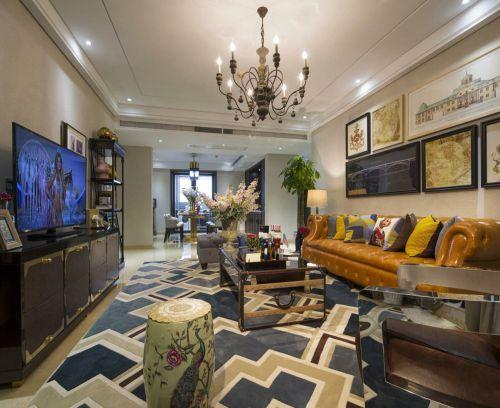 创意个性古典混搭风格客厅效果图