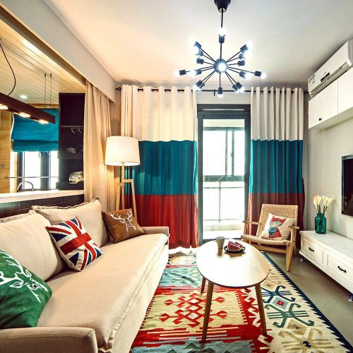创意摩登时尚混搭风格客厅装修案例