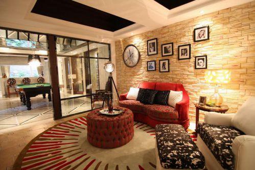 雅致个性混搭风格客厅设计图片