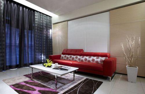 大气时尚现代混搭风格客厅装潢设计
