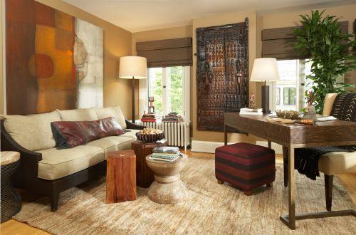 复古雅致混搭风格客厅设计欣赏