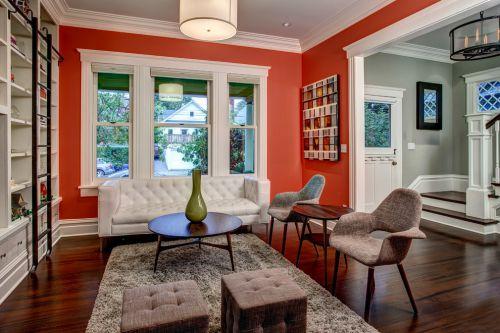 红色个性混搭客厅效果图设计
