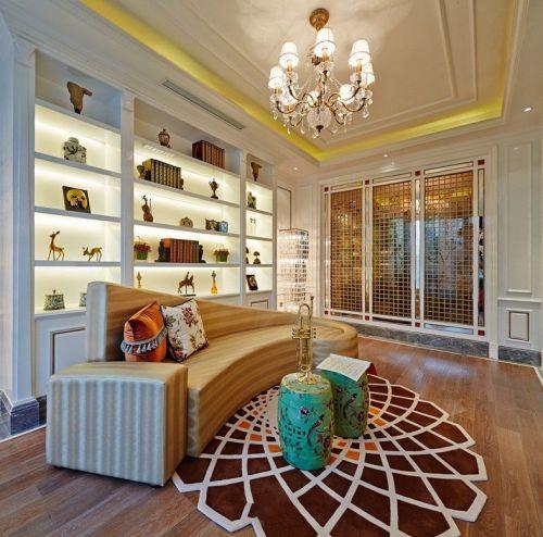 精致摩登个性混搭客厅设计装潢