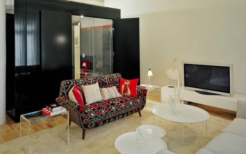 黑色混搭客厅装饰设计图片