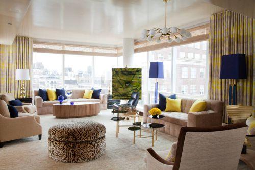 2016素雅米色时尚混搭风格客厅设计案例