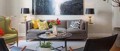 2016灰色混搭风格客厅设计装潢