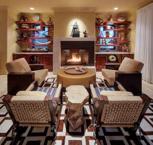 混搭风格原木色客厅美图欣赏