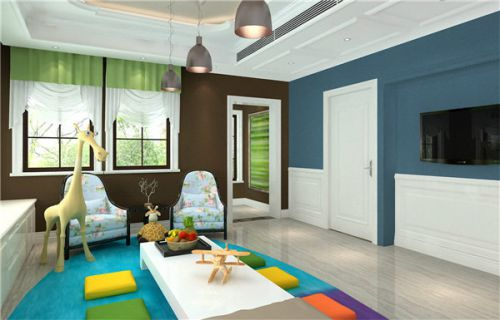 时尚个性混搭风格客厅设计图