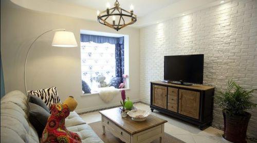 混搭风素雅米色客厅效果图设计