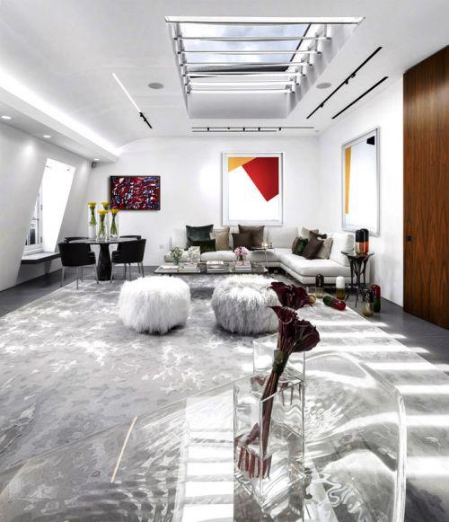 白色温馨混搭风格客厅美图赏析
