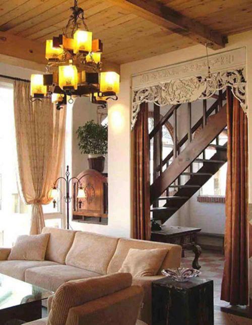 雅致中式古典混搭风格客厅布置