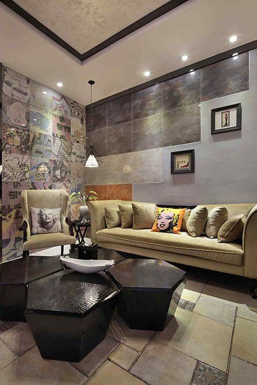 创意个性混搭风格客厅装修案例