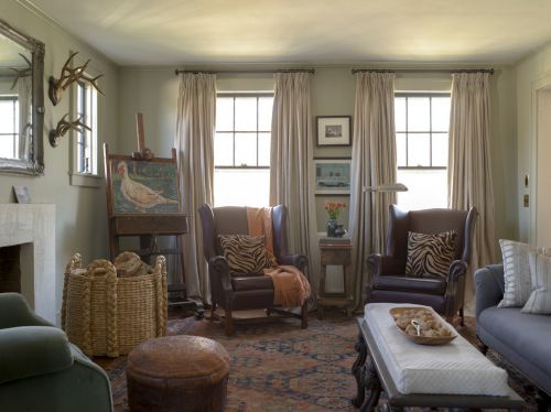 混搭风格雅致米色客厅美图欣赏